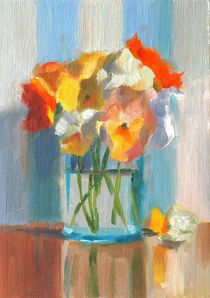 """No. 663 Pansy Bouquet"" original fine art by Susan McManamen"