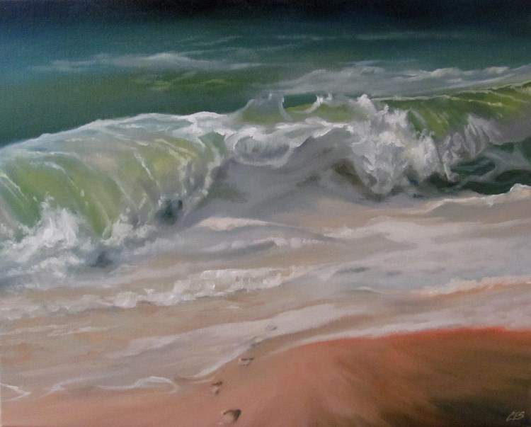 """Memories Into The Ocean"" original fine art by ~ces~ Christine E. S. Code"