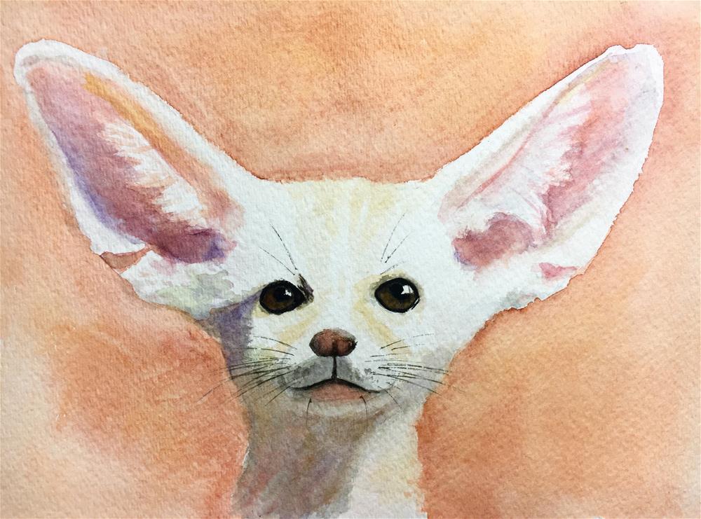"""""""I'm all ears"""" original fine art by Anna Starkova"""