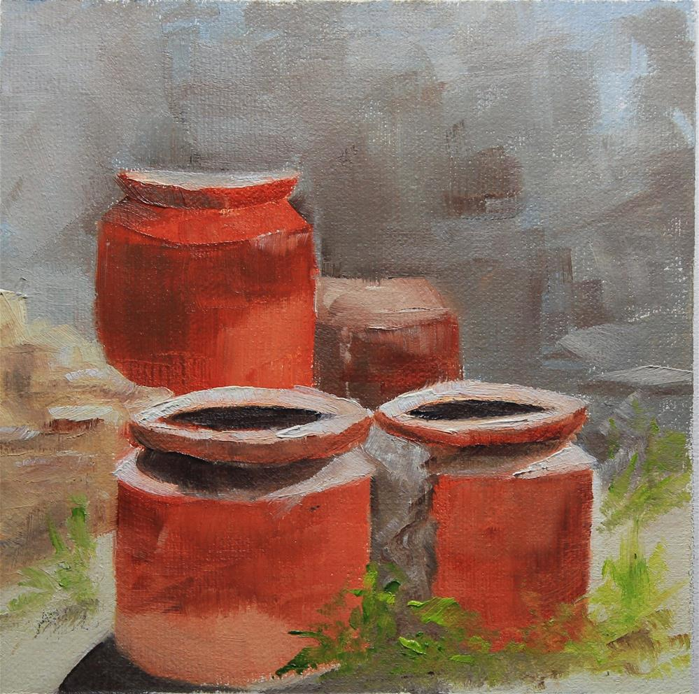 """""""Moments in Italy - Pompeii"""" original fine art by Maria Reed"""
