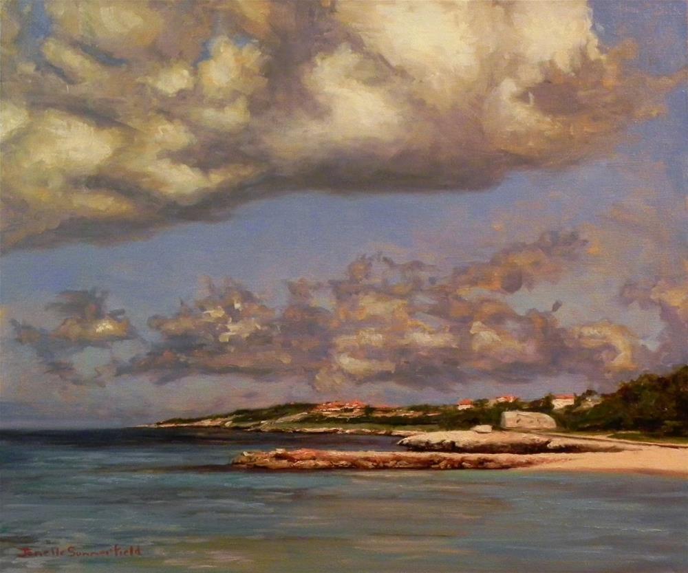 """""""Cloudy Day in Curacao"""" original fine art by Jonelle Summerfield"""