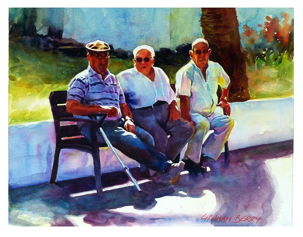 """""""Three Amigos."""" original fine art by Graham Berry"""
