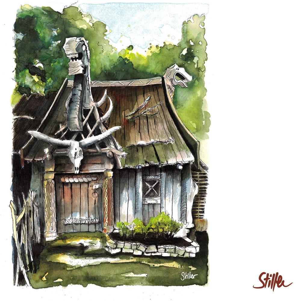 """3467 Dragonhouse (Eight)"" original fine art by Dietmar Stiller"