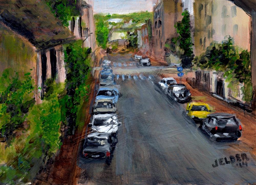 """Paris No. 14 or Outside the City"" original fine art by Judith Elder"