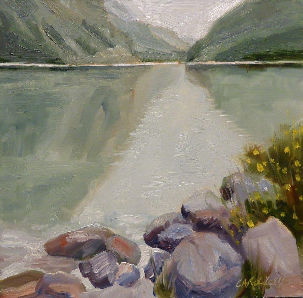 """""""Lake Louise Alberta"""" original fine art by Carolynn Doan"""