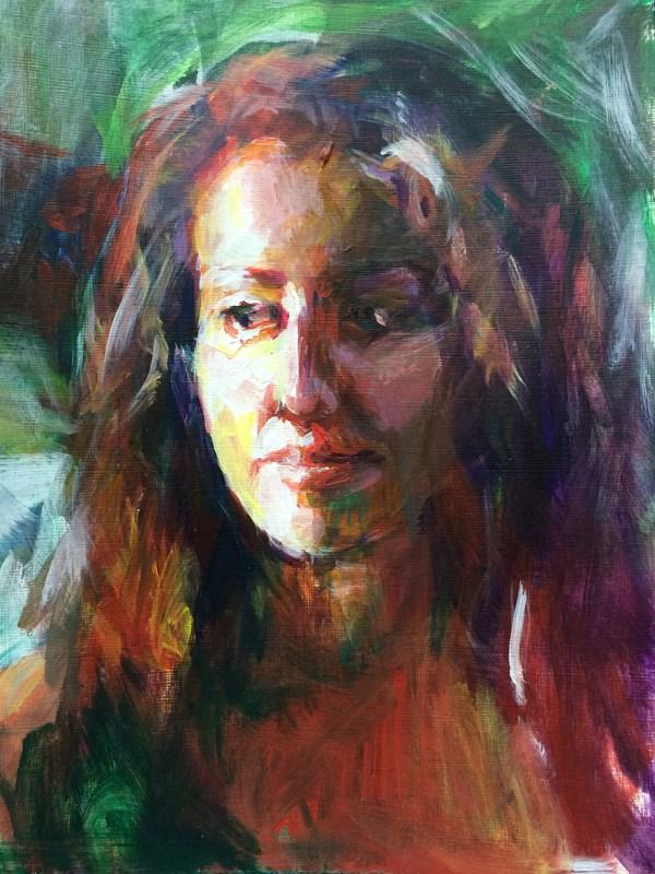 """Jen Portrait Study"" original fine art by Sharon Savitz"