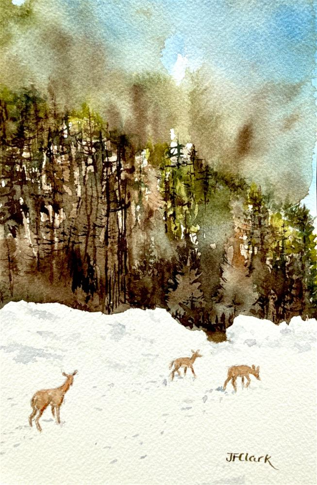 """Late Winter Lunch"" original fine art by Judith Freeman Clark"