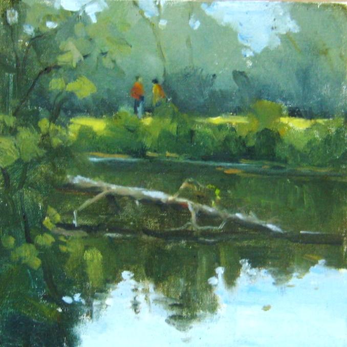 """Fallen Tree, Reedy Park, NC"" original fine art by Connie Snipes"