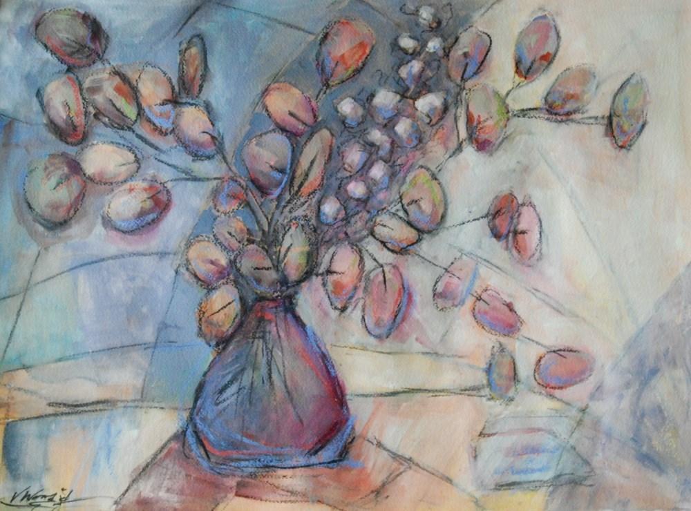 """blooms 3"" original fine art by Vicki Wood"