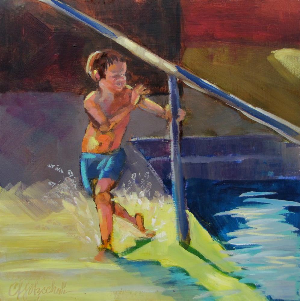 """Indoor Swimming"" original fine art by Christine Holzschuh"