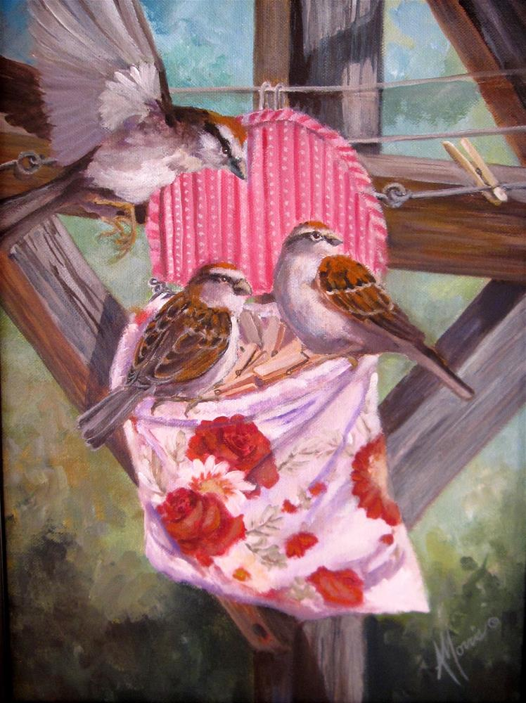"""Laundry Day"" original fine art by Andrea Morris"