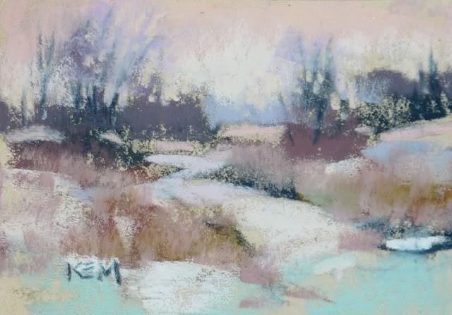 """Mini Week...Tips for Winter Mini Pastels"" original fine art by Karen Margulis"