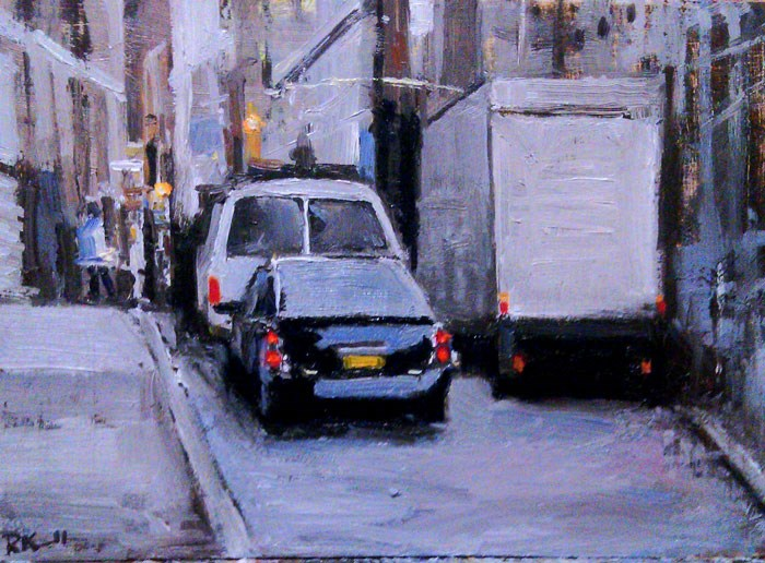 """City Street"" original fine art by Bob Kimball"