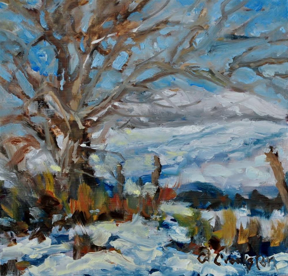 """Wintery Day"" original fine art by Catherine Crookston"