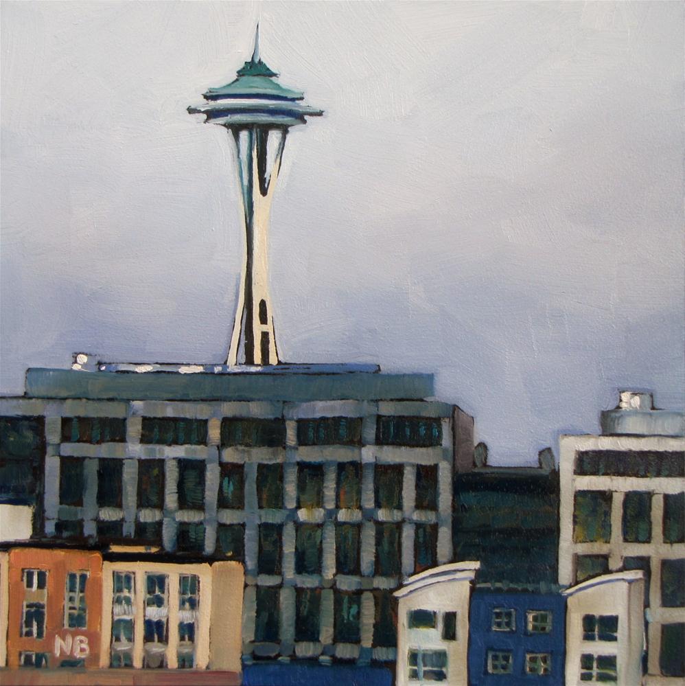 """Seattle Sky"" original fine art by Nora Bergman"