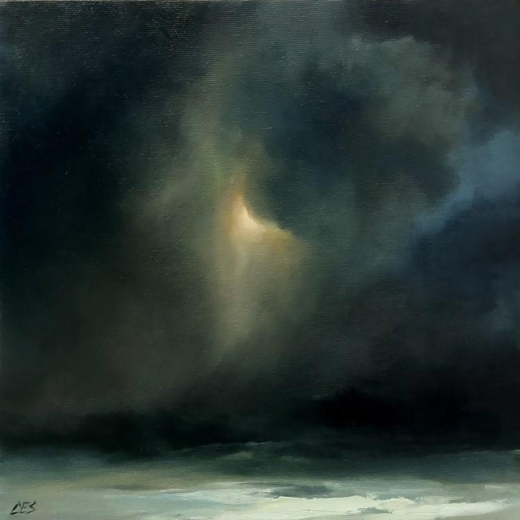 """Blowing Snow"" original fine art by Christine E. S. Code"