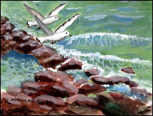 """""""Down by the Sea"""" original fine art by Patricia Ann Rizzo"""