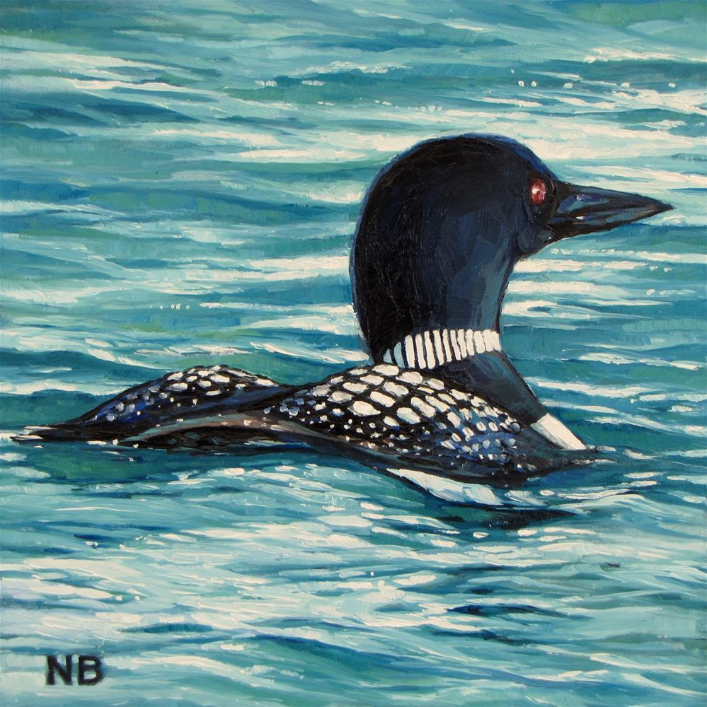 """""""The Call of the Lonely Loon"""" original fine art by Nora Bergman"""