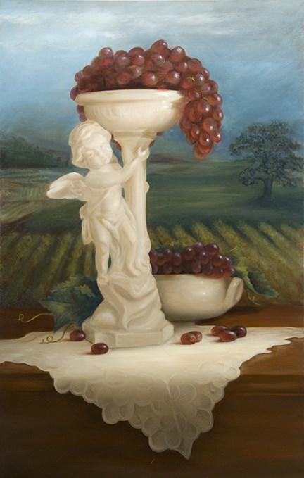 """Vineyard Harvest #914"" original fine art by Dee Lessard"
