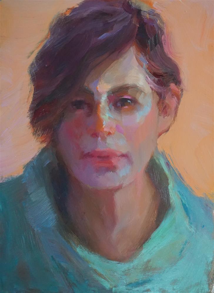 """Julia"" original fine art by Carol Myer"