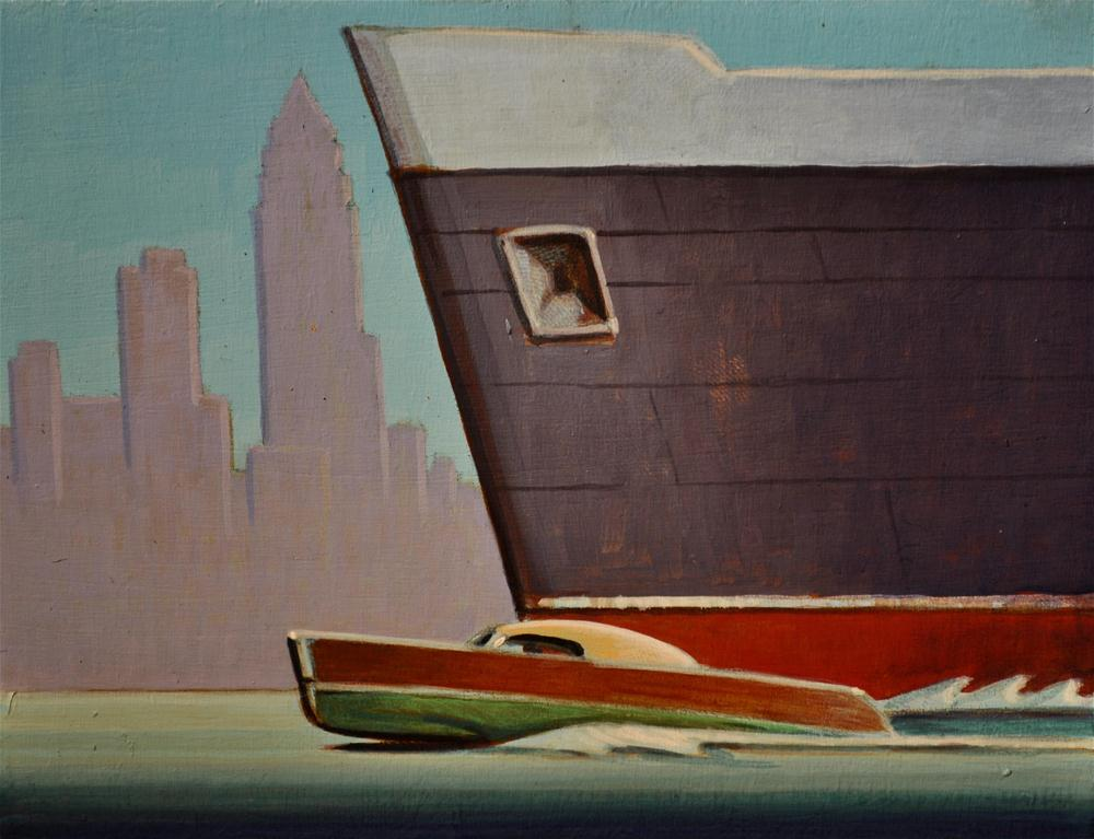 """""""Commuter"""" original fine art by Robert LaDuke"""