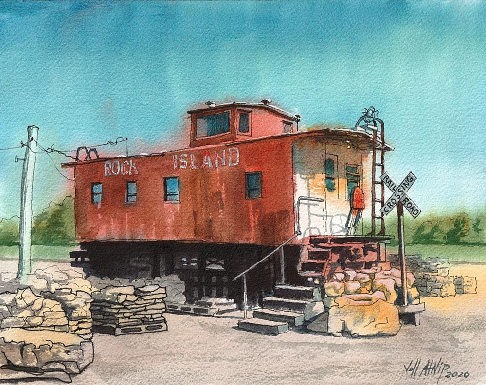 """The Rock Island Line"" original fine art by Jeff Atnip"