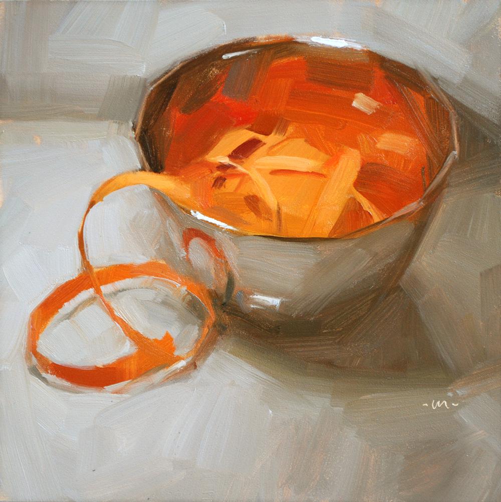 """Bowl of Ribbon"" original fine art by Carol Marine"