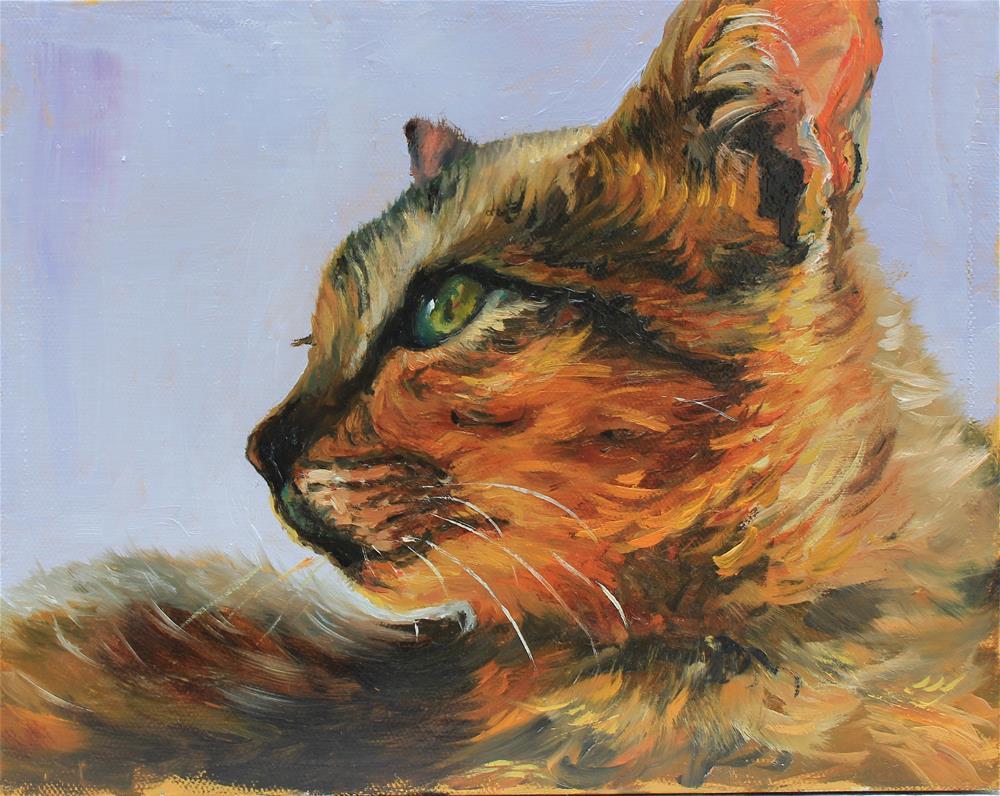 """Feline"" original fine art by Marco Vazquez"