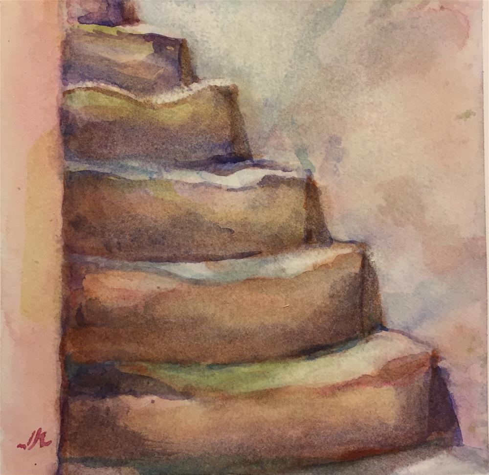 """Stairs"" original fine art by Jean Krueger"