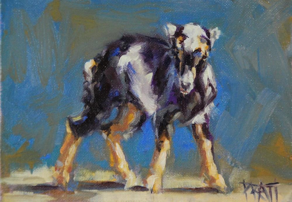 """Terminator Goat"" original fine art by Jennifer Pratt"