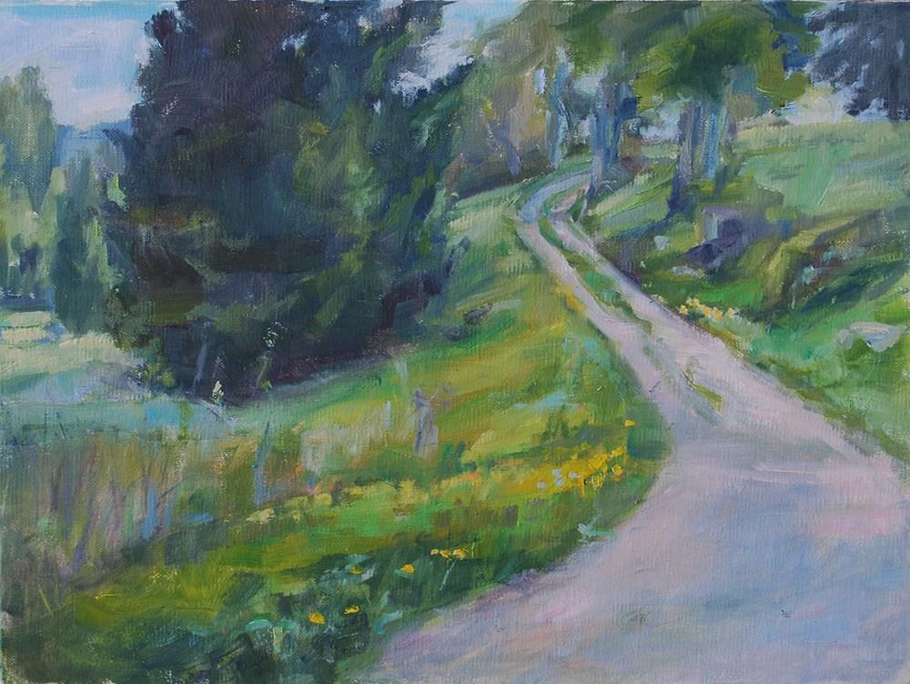 """Country Road"" original fine art by Carol DeMumbrum"