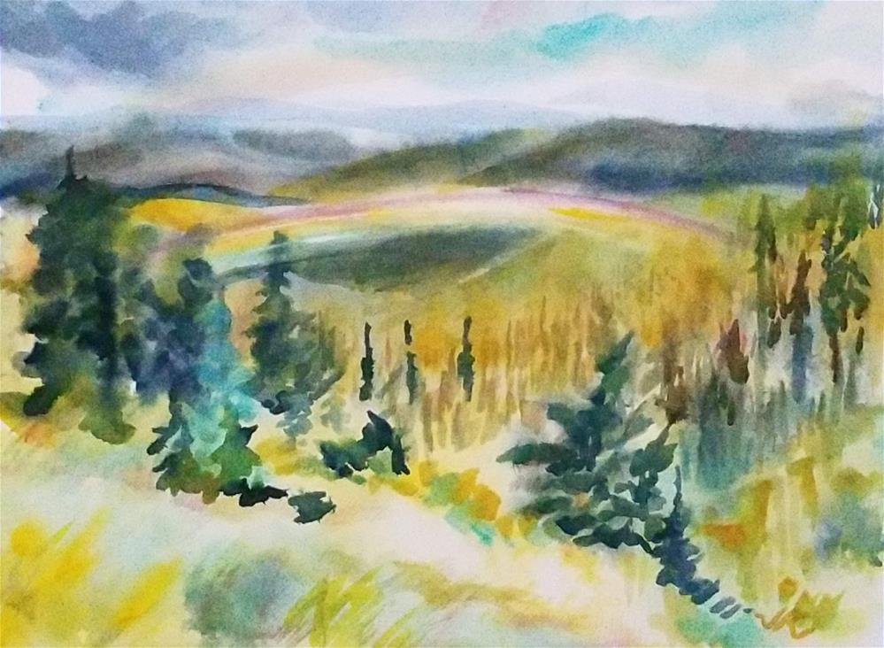 """""""Rainbow Valley, Colorado"""" original fine art by Jean Krueger"""