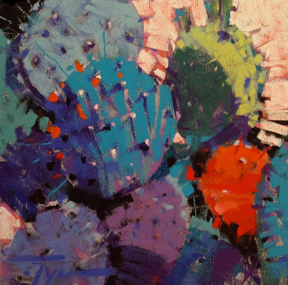 """Blue Heat"" original fine art by Jennifer Evenhus"