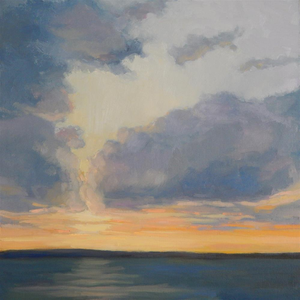"""Clouds at Sunset"" original fine art by Lisa Kyle"