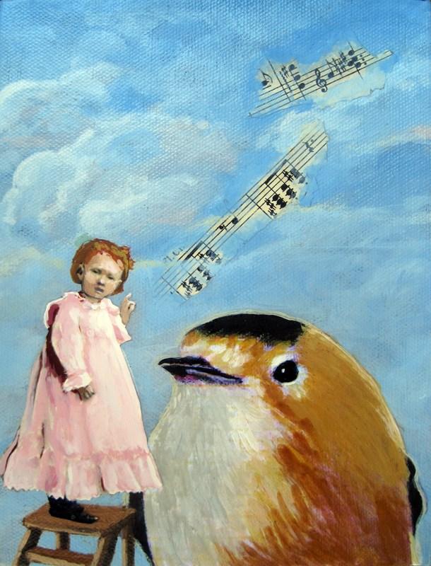 """Music To My Ears"" original fine art by Linda Apple"