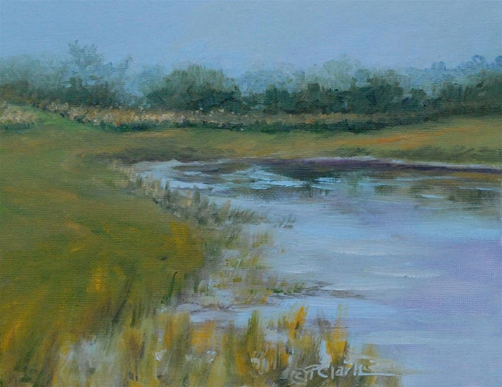 """GARBRY EVENING, 8 x 10 Oil, Landscape"" original fine art by Donna Pierce-Clark"