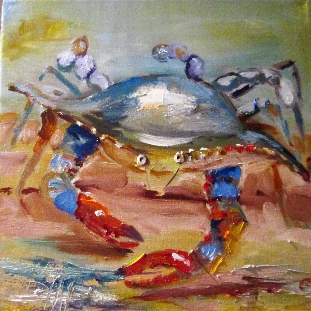 """Blue Crab"" original fine art by Delilah Smith"