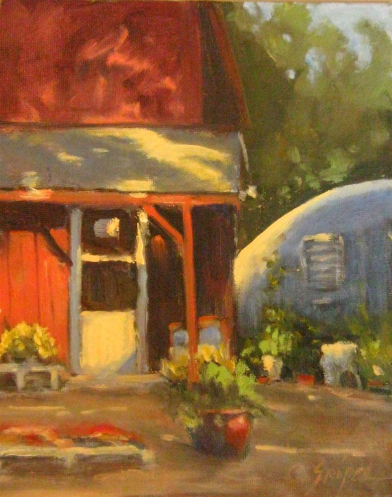 """""""Plant Nursery and Greenhouse"""" original fine art by Connie Snipes"""
