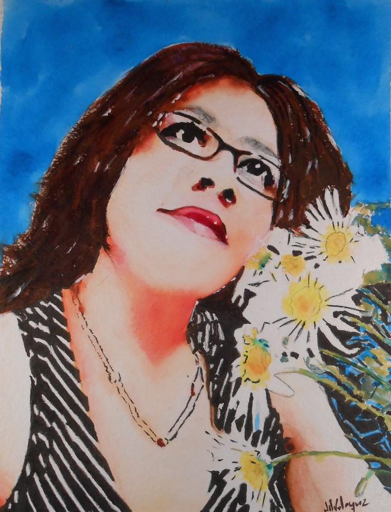 """""""My Queen"""" original fine art by Juan Velasquez"""