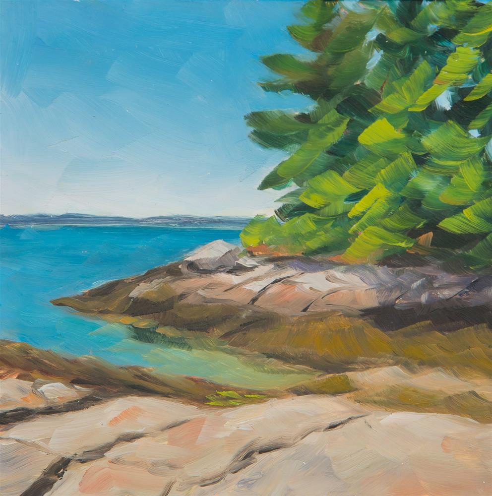 """Porter Preserve - Barters Island, Maine"" original fine art by Sara Gray"