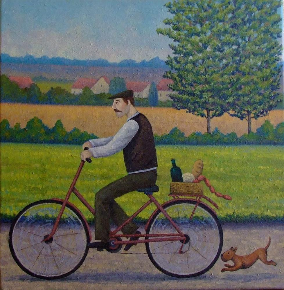 """""""Market Day"""" original fine art by Mark  Attard"""