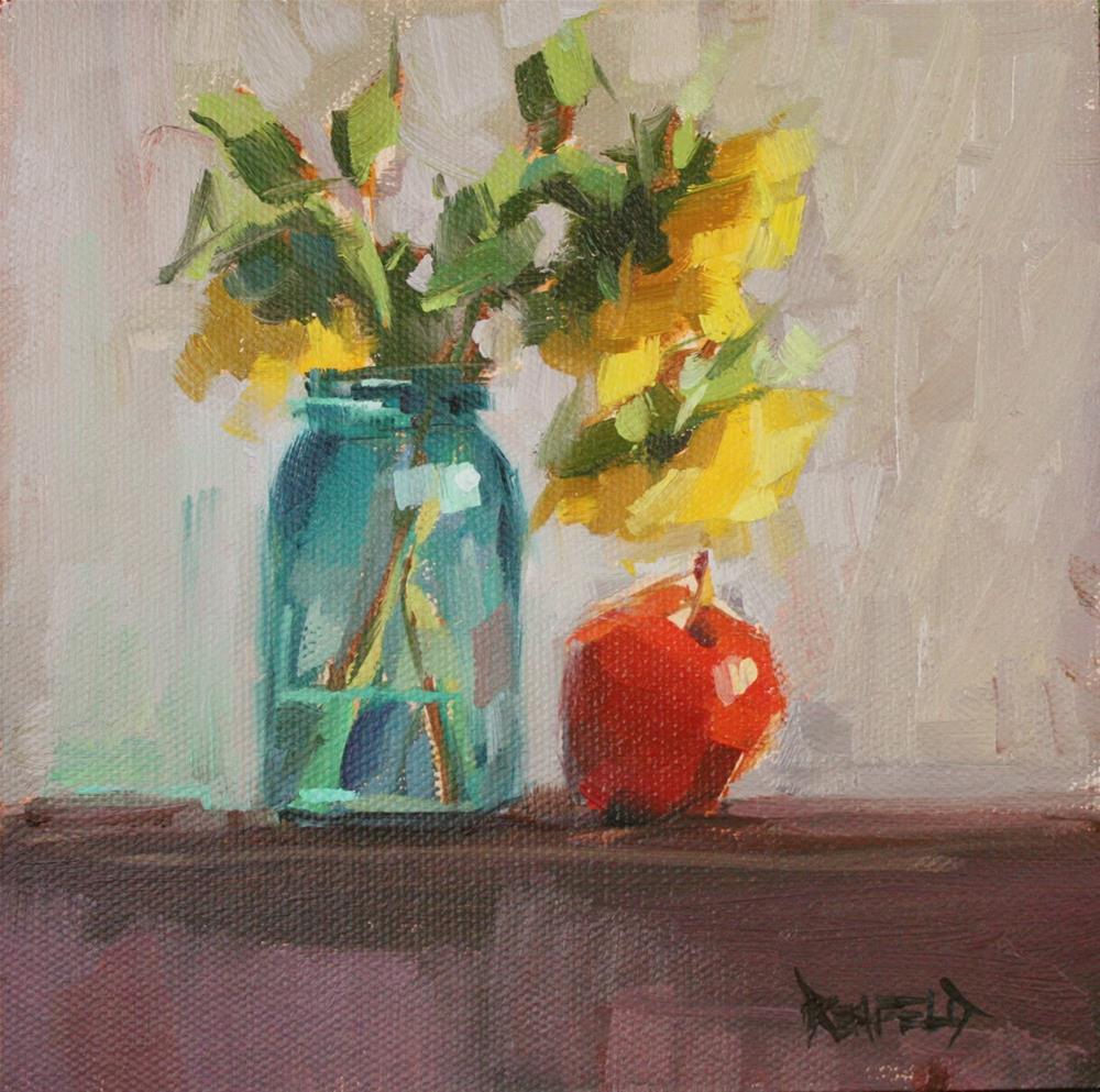 """Sunflowers"" original fine art by Cathleen Rehfeld"