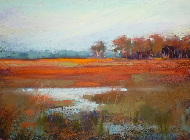 """3 Tips for Painting the Magic Hour from Photos"" original fine art by Karen Margulis"
