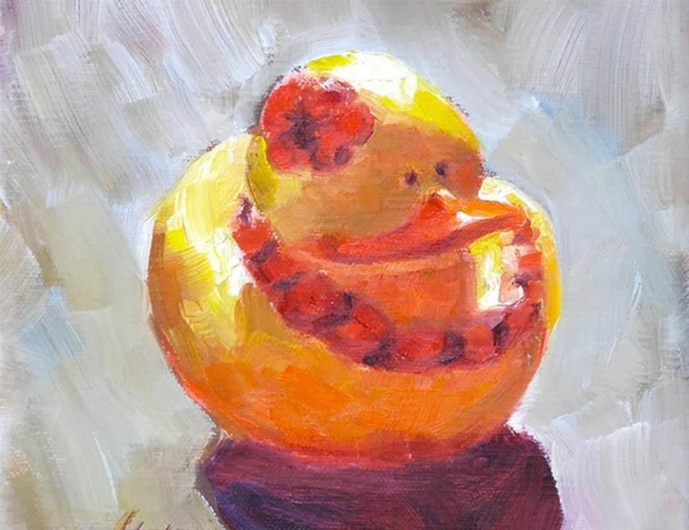 """Rubber Ducky, 6x6 Oil on Canvas"" original fine art by Carmen Beecher"