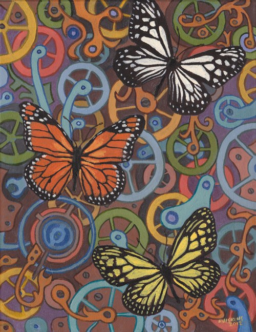"""""""Clockwork Butterflies No. 7"""" original fine art by Randal Huiskens"""