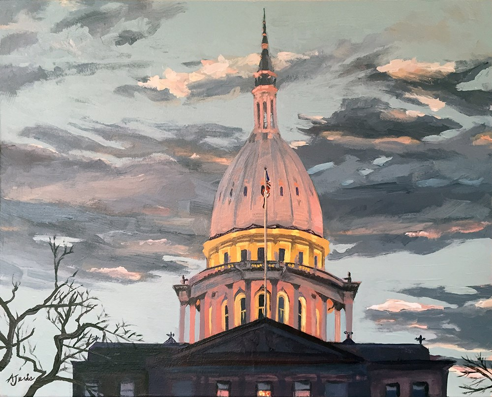 """Capitol Twilight"" original fine art by Andrea Jeris"