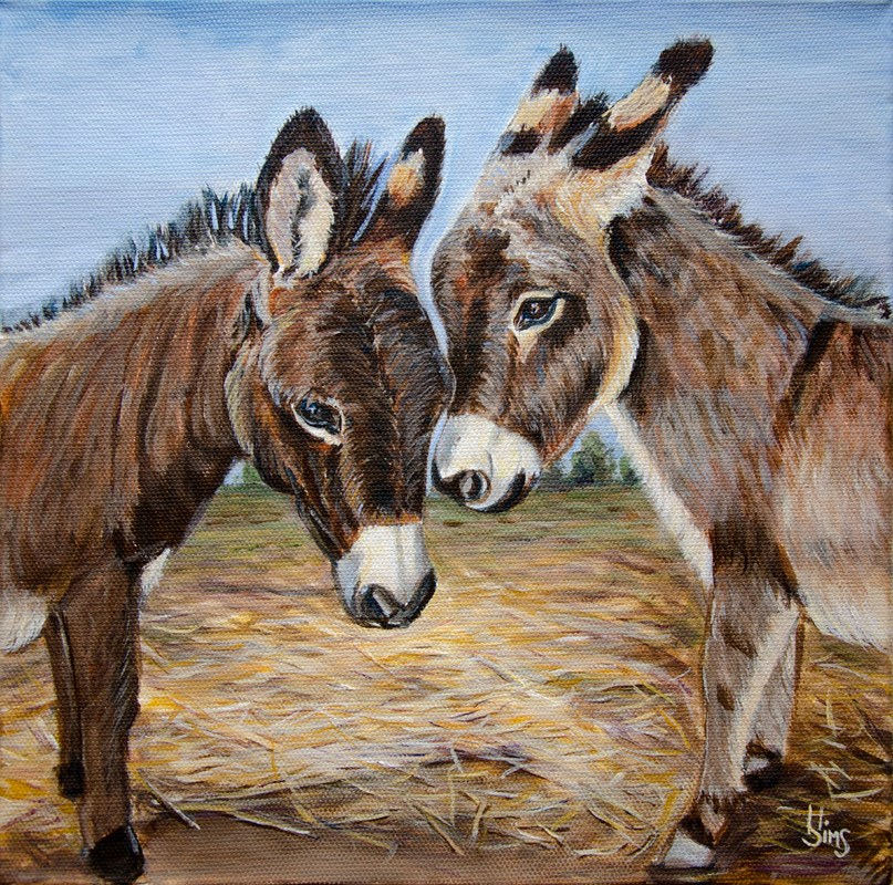 """Augie and Timo"" original fine art by Heather Sims"