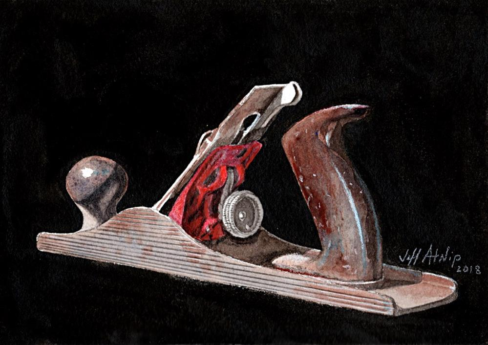 """Woodworking Plane"" original fine art by Jeff Atnip"