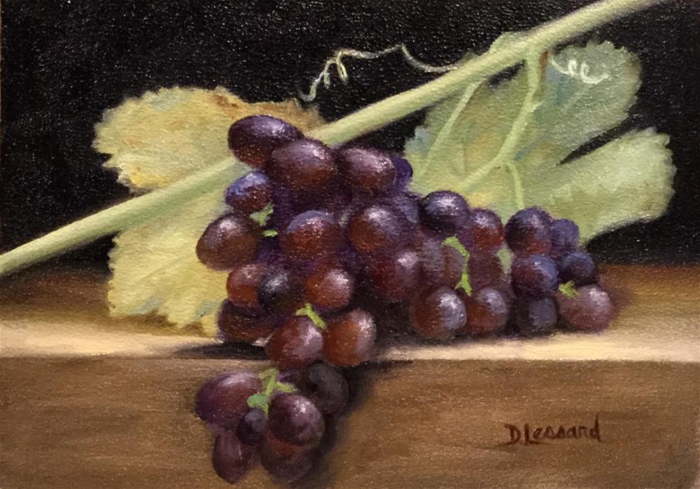 """""""Grapes #1627"""" original fine art by Dee Lessard"""