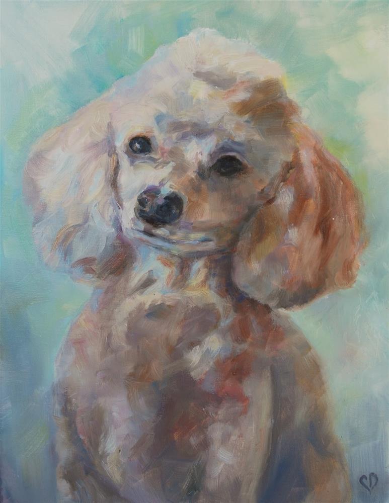 """""""Poodle Portrait, Original oil by Carol DeMumbrum"""" original fine art by Carol DeMumbrum"""